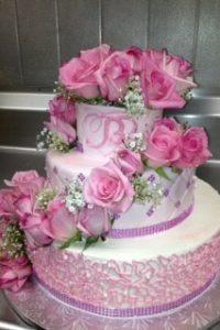 beautiful-pink-roses-cake